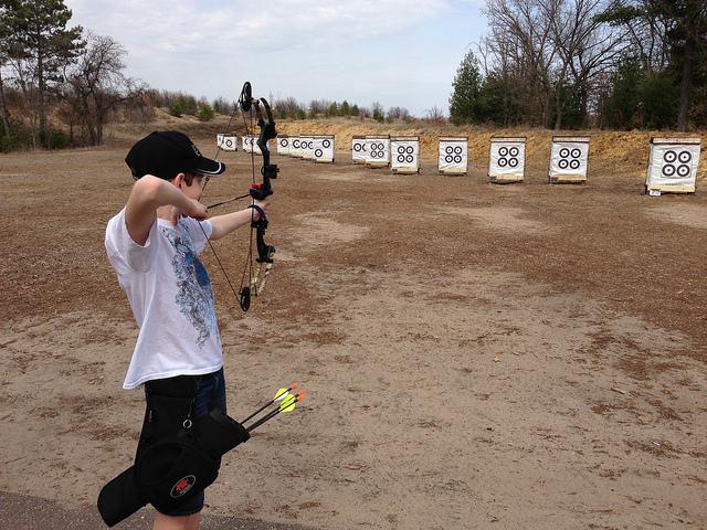 Setting Up Backyard Archery Range : archery range