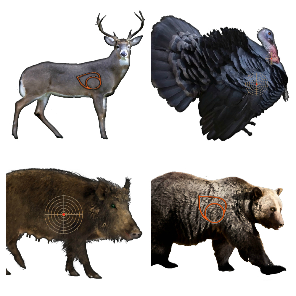 Printable animal airsoft targets