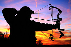 Bow hunting at dusk in Kansas