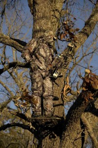 Camouflage gear abd tree stand
