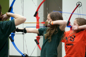 Junior archery competition